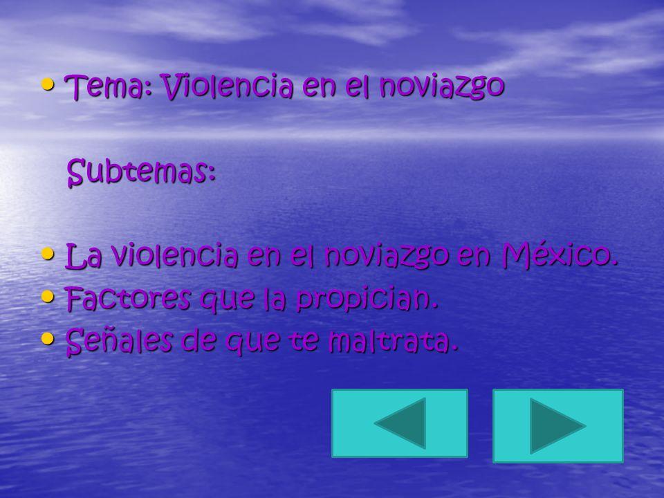 Tema: Violencia en el noviazgo