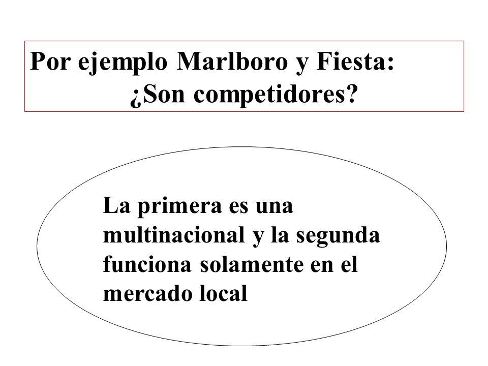 Por ejemplo Marlboro y Fiesta: ¿Son competidores