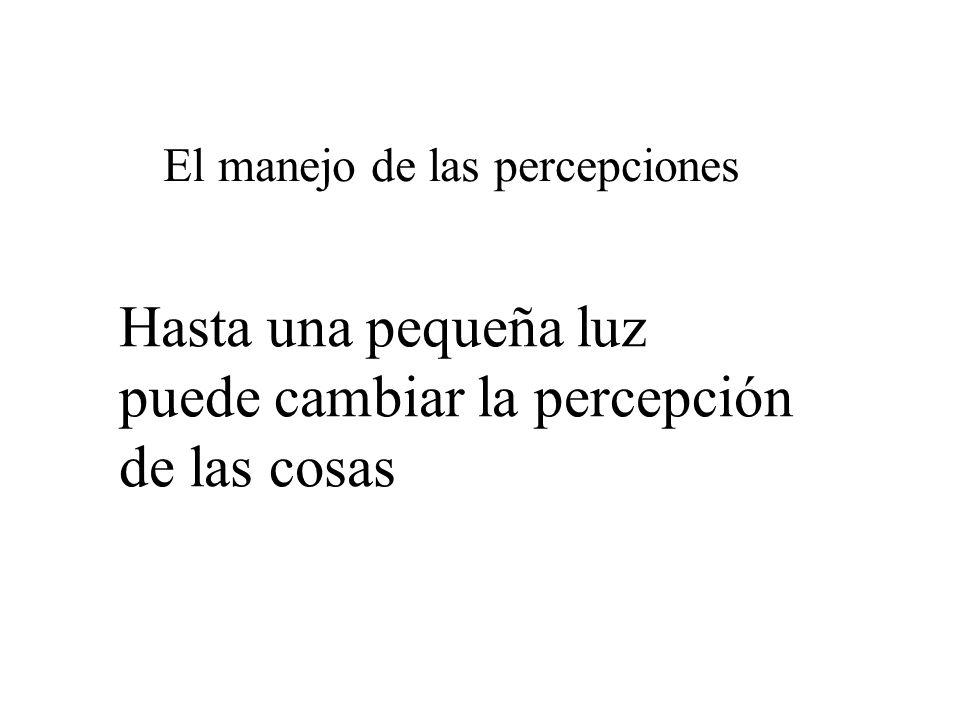 El manejo de las percepciones