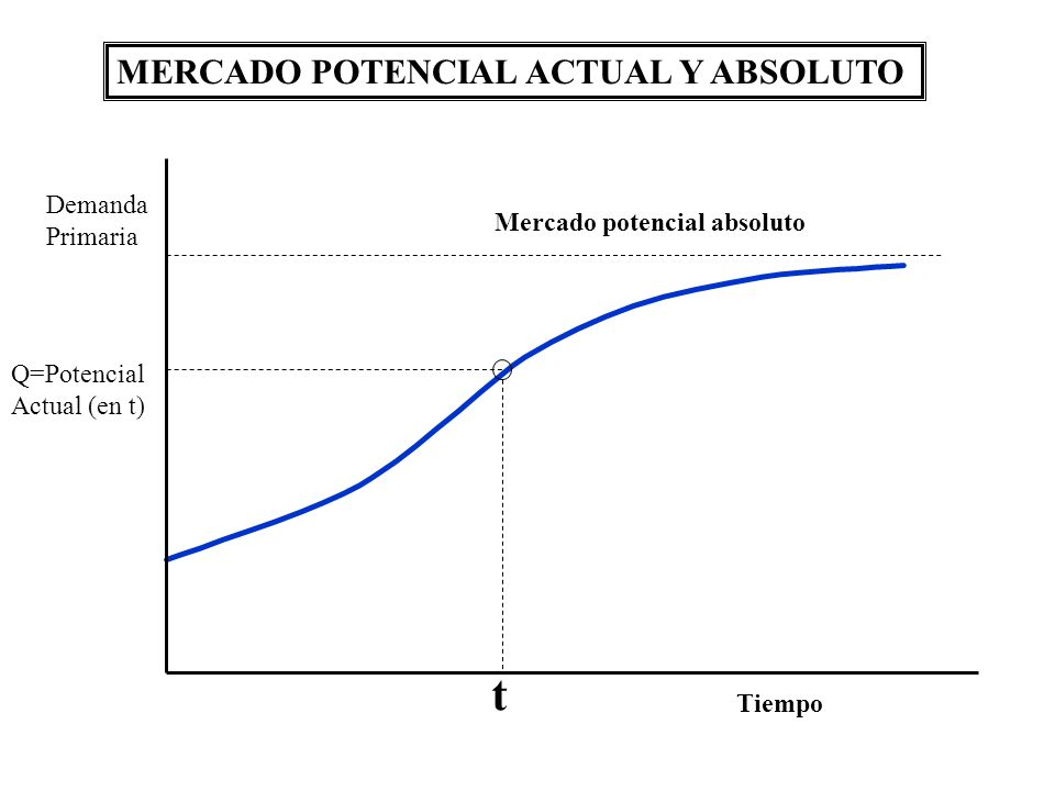 t MERCADO POTENCIAL ACTUAL Y ABSOLUTO Demanda Primaria