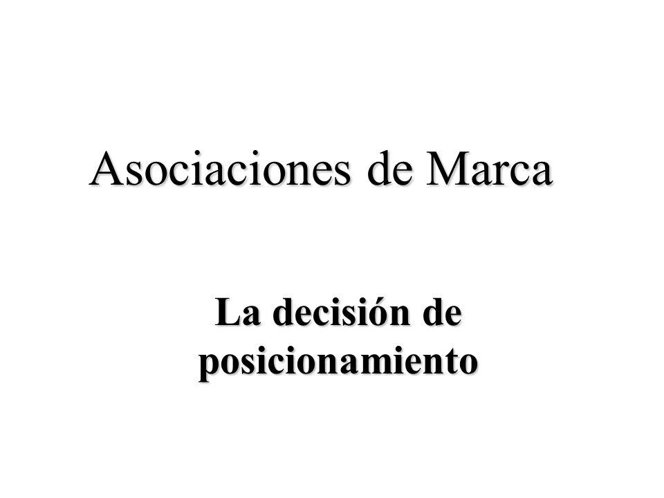 La decisión de posicionamiento