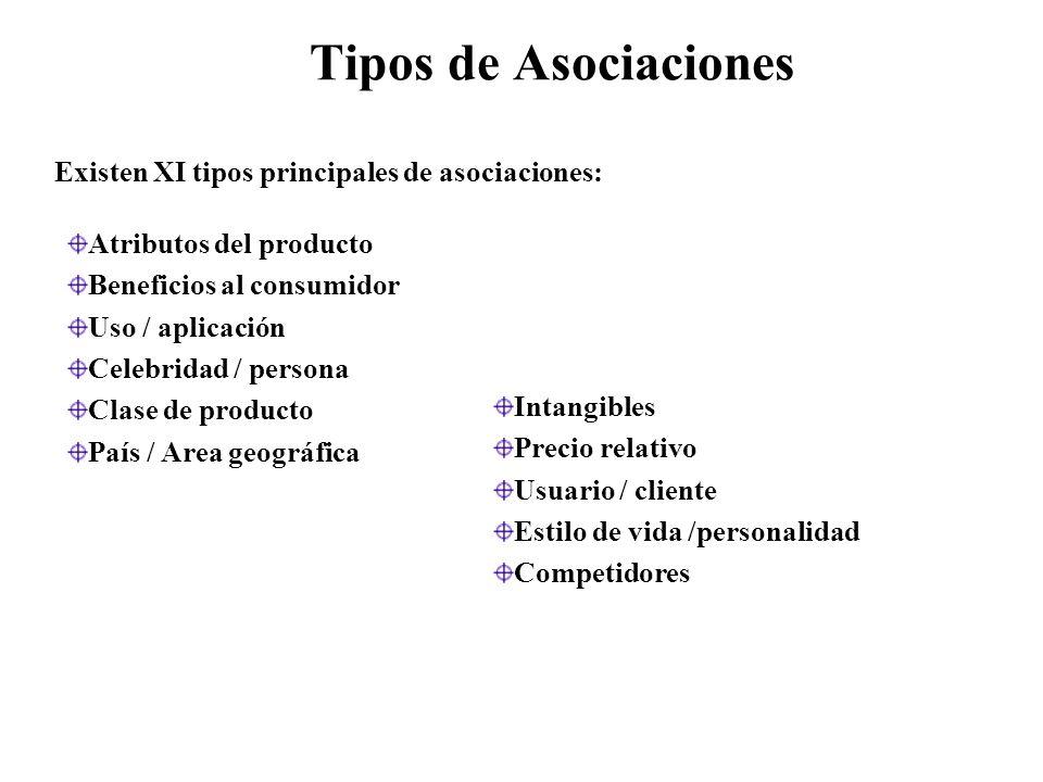 Tipos de Asociaciones Existen XI tipos principales de asociaciones: