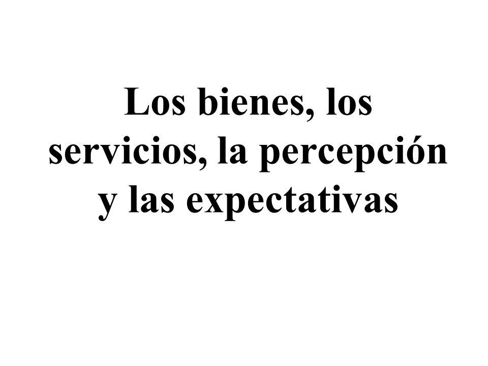 Los bienes, los servicios, la percepción y las expectativas