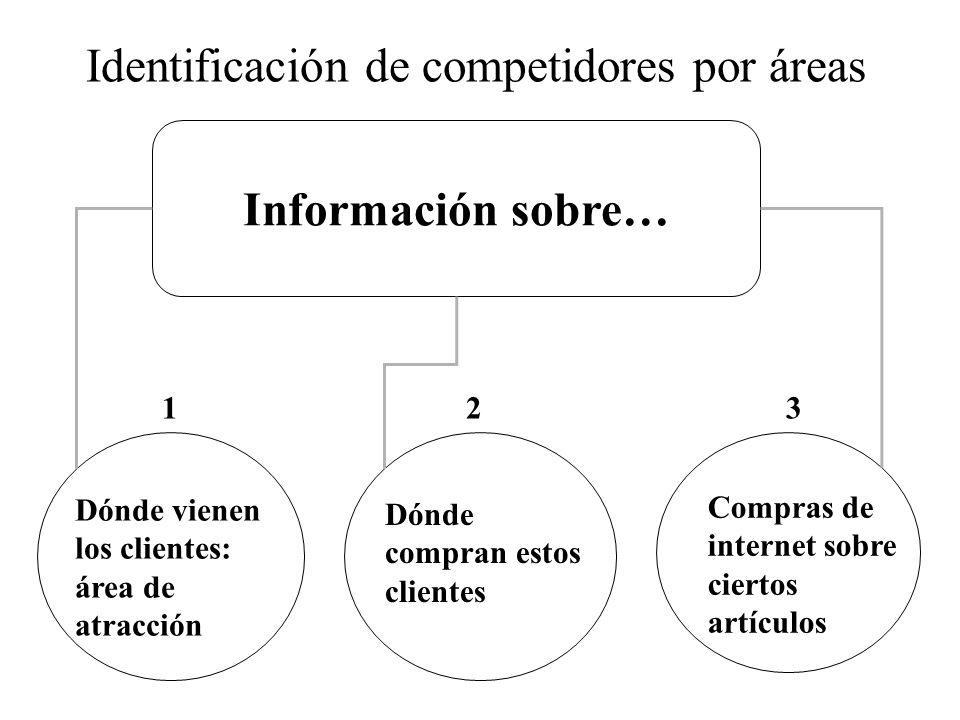 Identificación de competidores por áreas