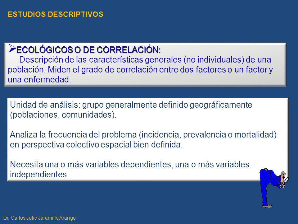 ECOLÓGICOS O DE CORRELACIÓN: