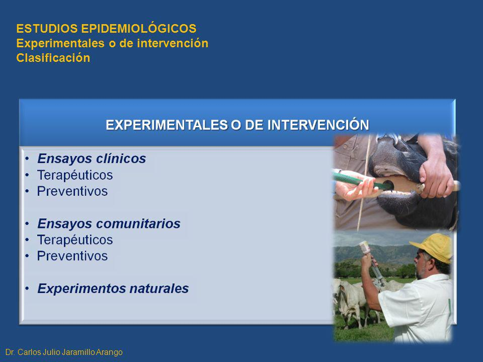 ESTUDIOS EPIDEMIOLÓGICOS Experimentales o de intervención