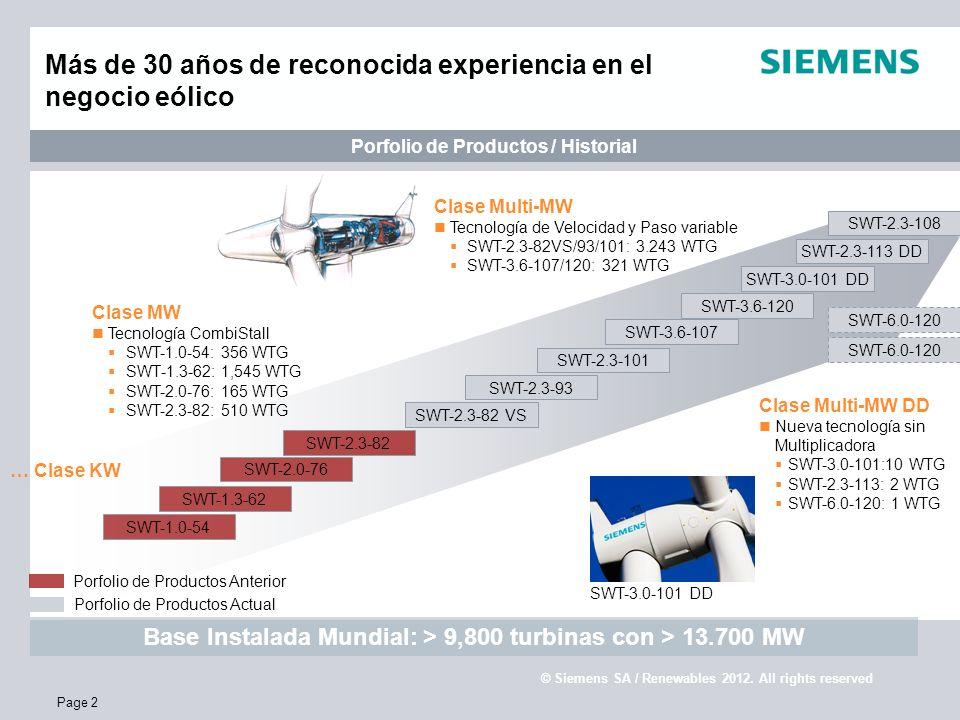 Más de 30 años de reconocida experiencia en el negocio eólico