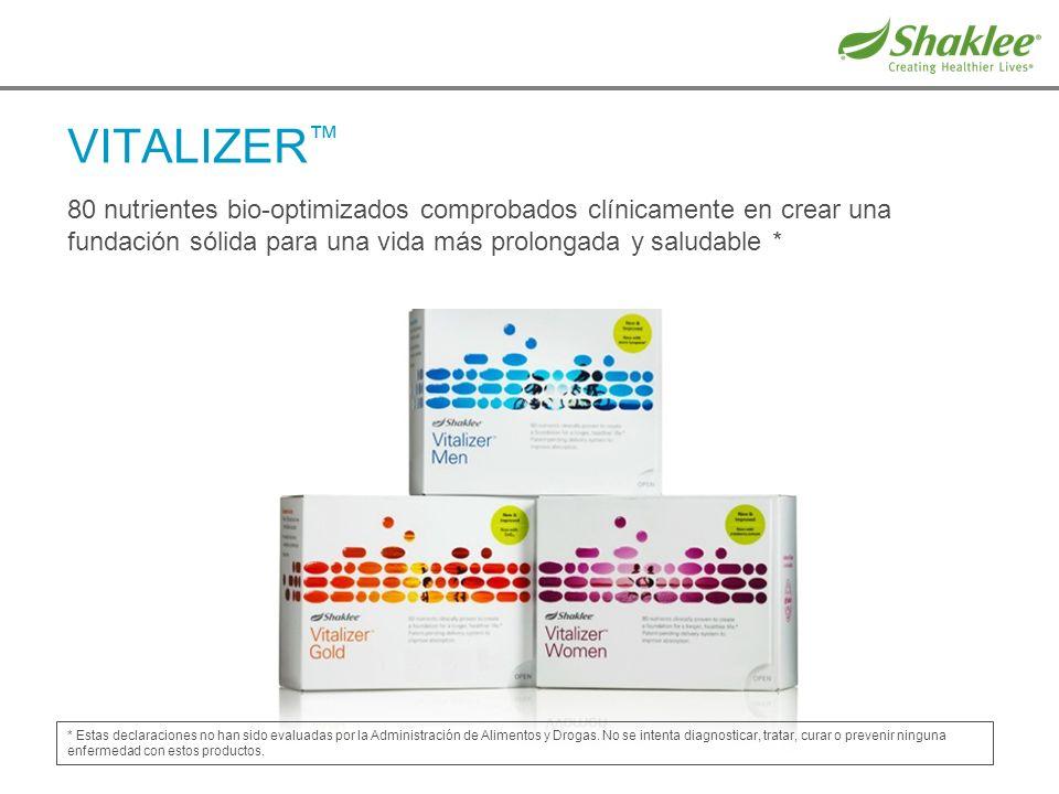 VITALIZER™ 80 nutrientes bio-optimizados comprobados clínicamente en crear una fundación sólida para una vida más prolongada y saludable *