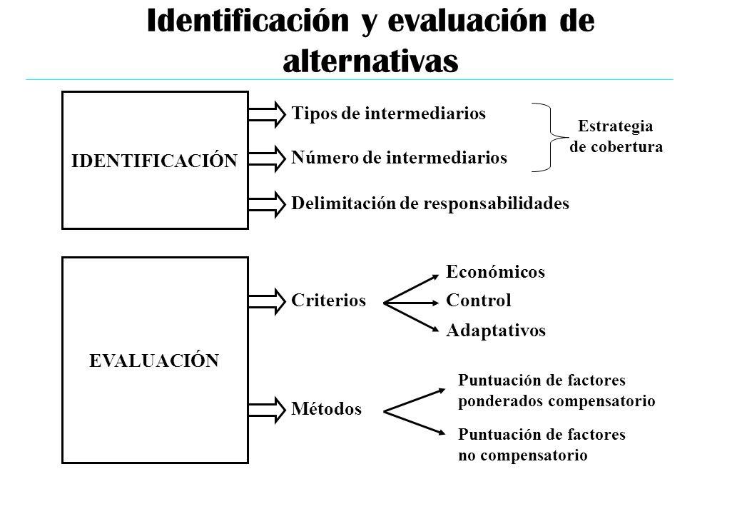 Identificación y evaluación de alternativas