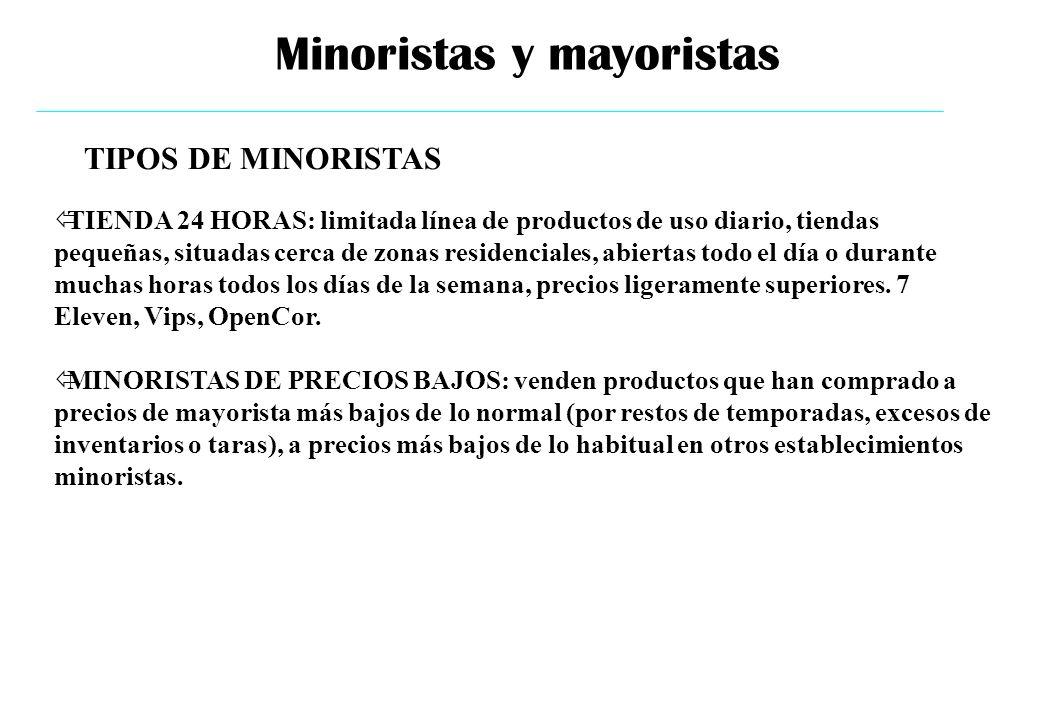 Minoristas y mayoristas