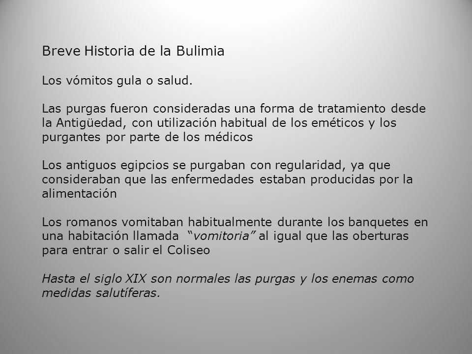 Breve Historia de la Bulimia