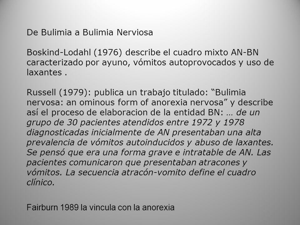 De Bulimia a Bulimia Nerviosa