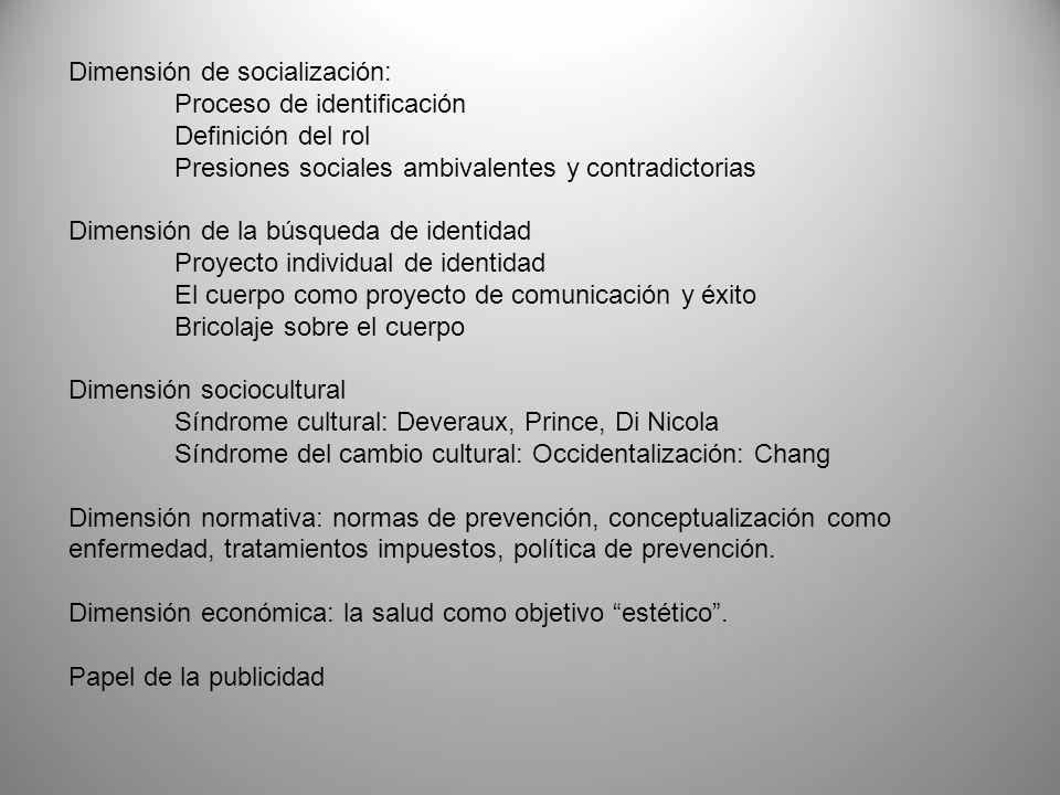 Dimensión de socialización:
