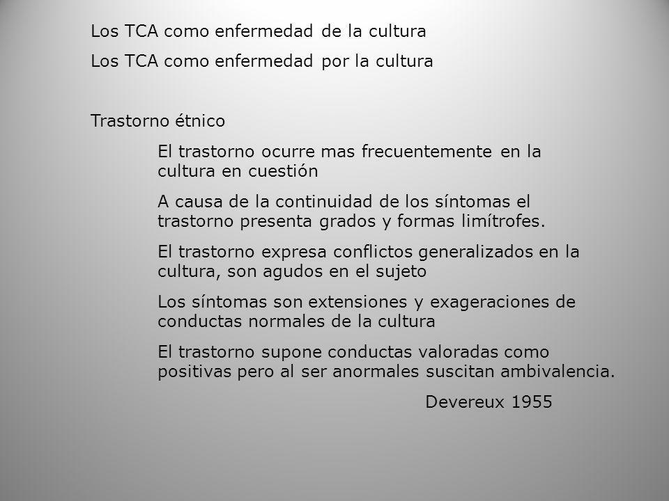 Los TCA como enfermedad de la cultura