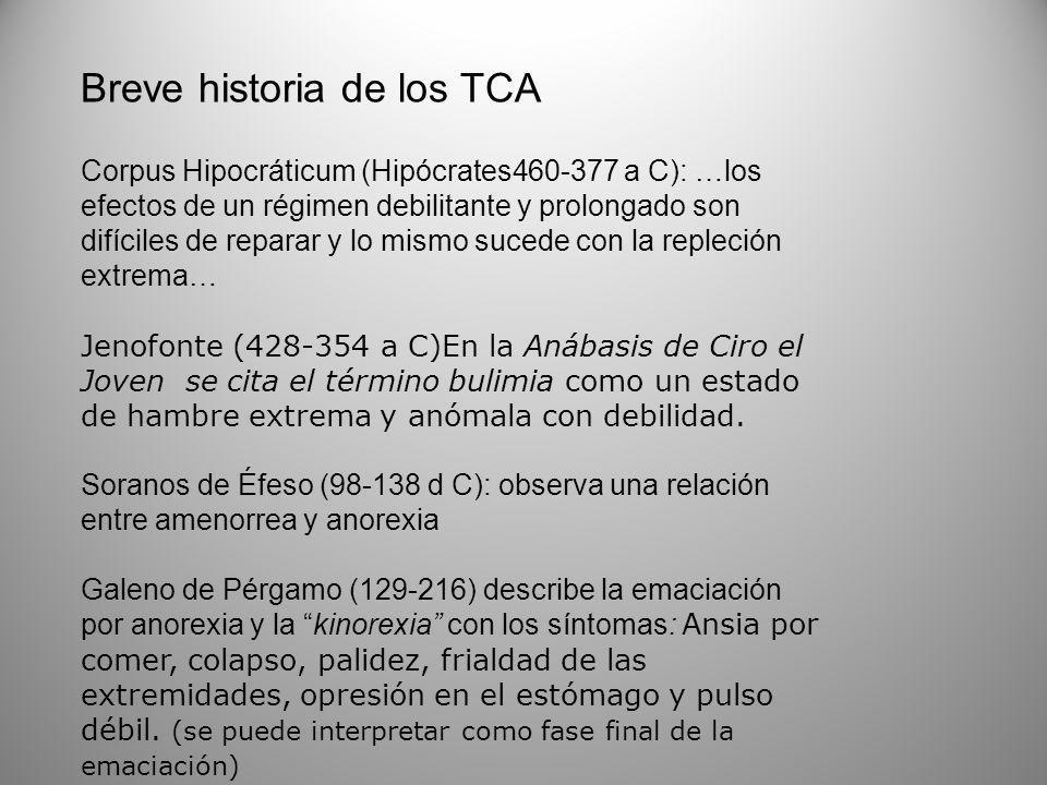 Breve historia de los TCA