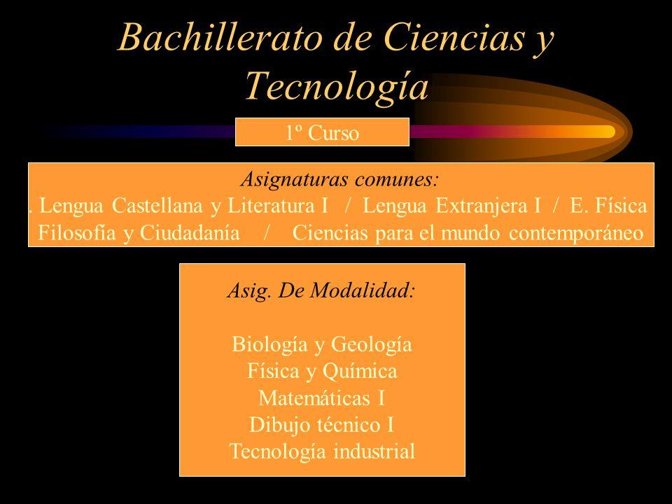 Bachillerato de Ciencias y Tecnología