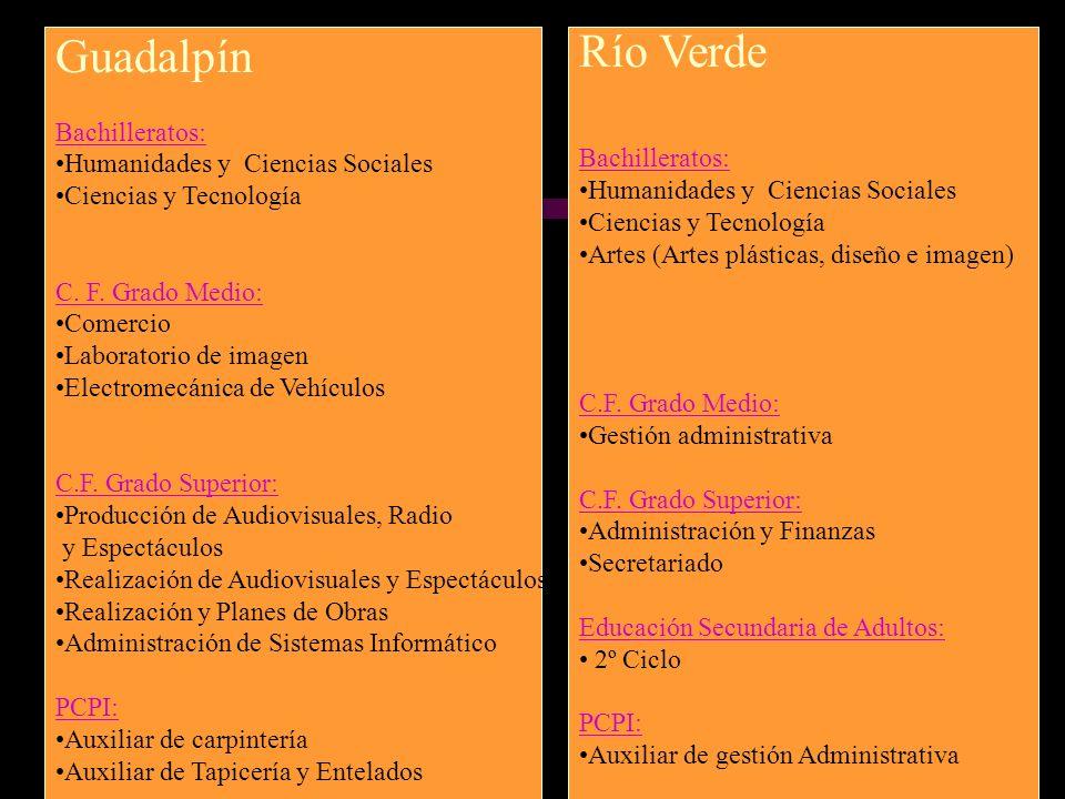 Guadalpín Río Verde Bachilleratos: Humanidades y Ciencias Sociales