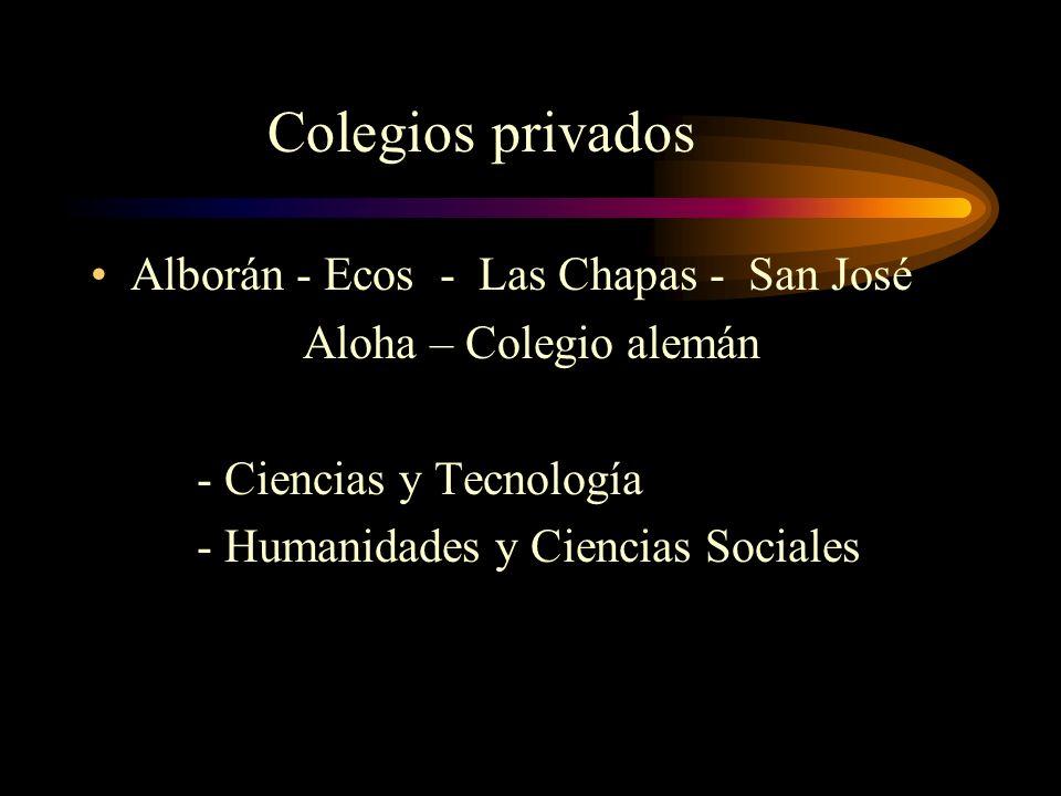 Colegios privados Alborán - Ecos - Las Chapas - San José