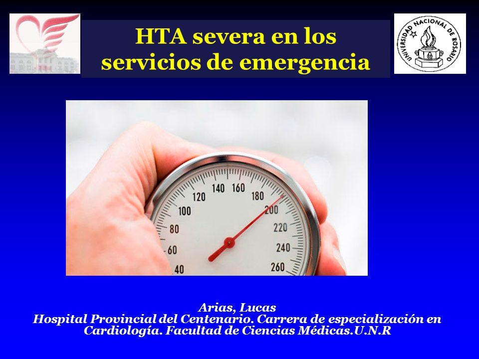 HTA severa en los servicios de emergencia Emergencias hipertensivas