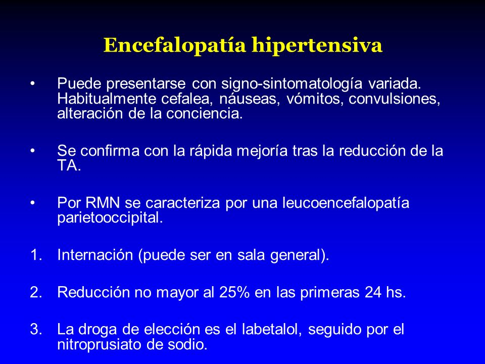 Encefalopatía hipertensiva