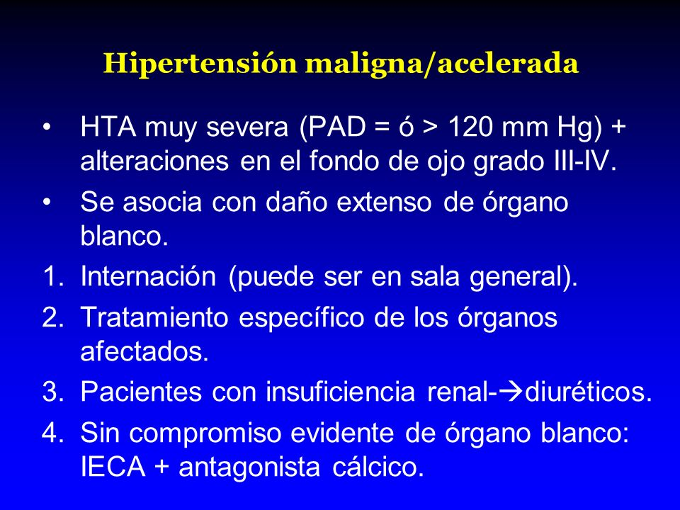 Hipertensión maligna/acelerada
