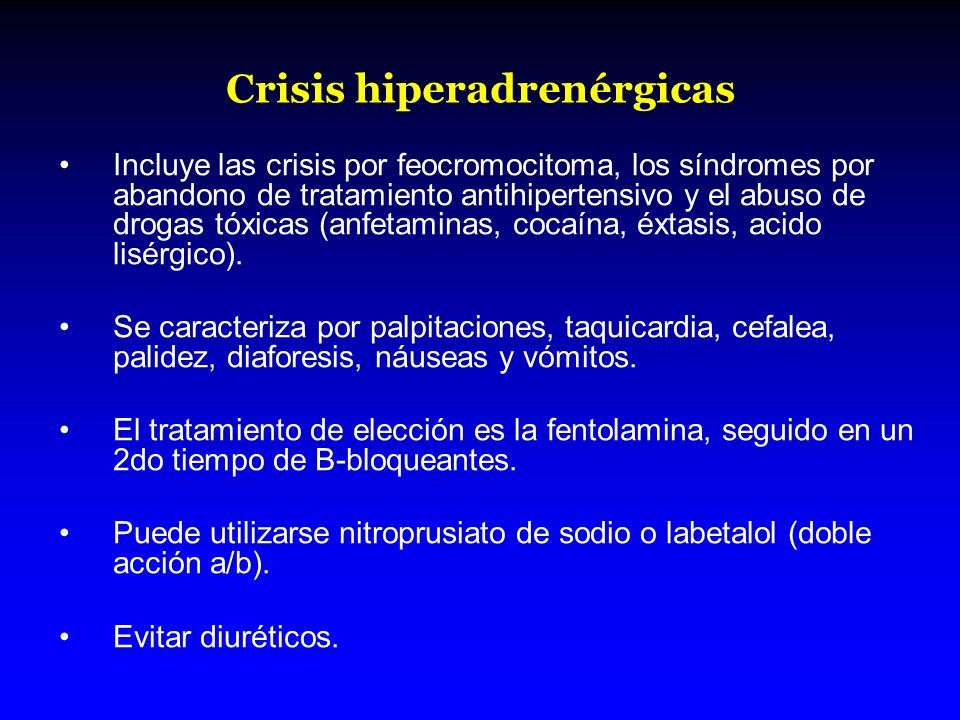 Crisis hiperadrenérgicas