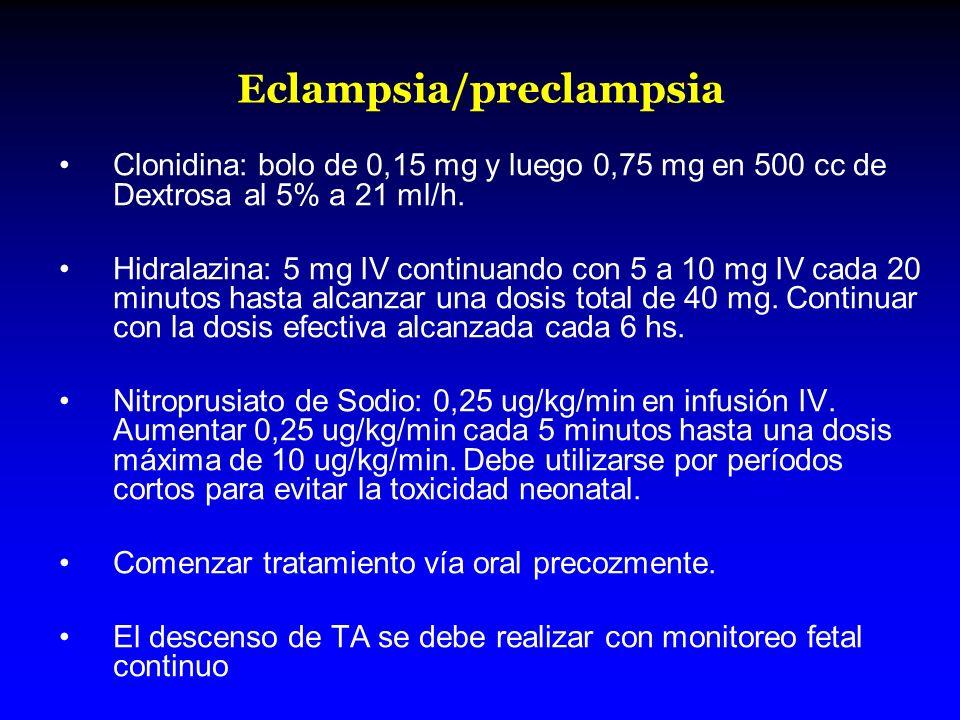 Eclampsia/preclampsia
