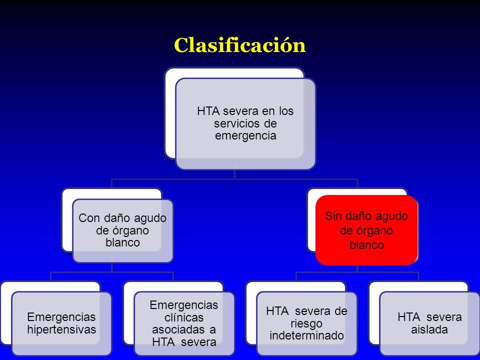 Clasificación Sin daño agudo de órgano blanco