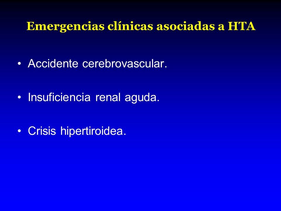 Emergencias clínicas asociadas a HTA