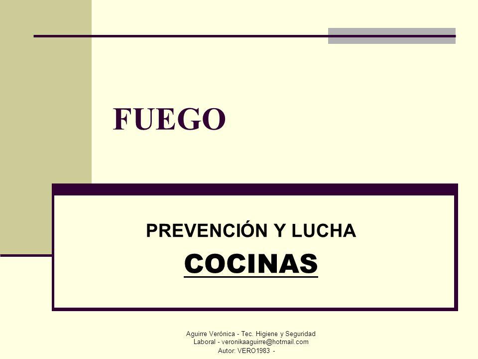 PREVENCIÓN Y LUCHA COCINAS
