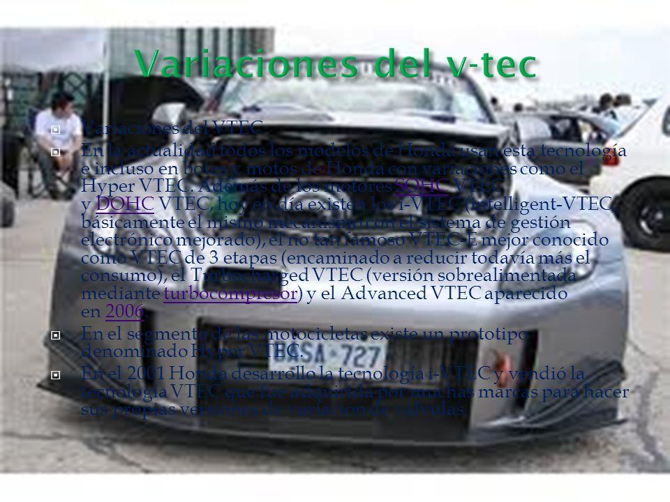 Variaciones del v-tec Variaciones del VTEC