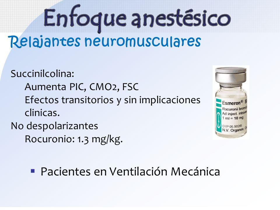 Enfoque anestésico Relajantes neuromusculares