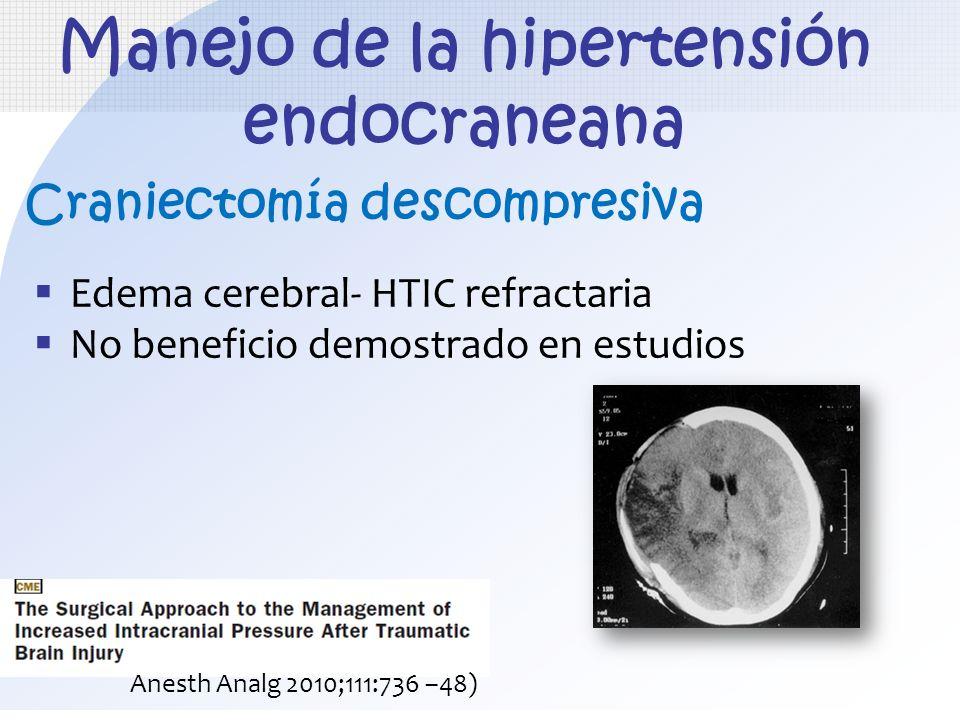 Manejo de la hipertensión endocraneana