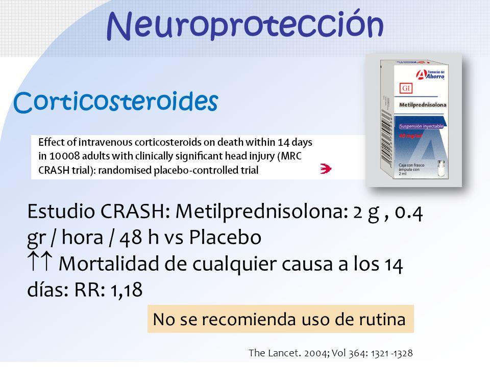 Neuroprotección Corticosteroides
