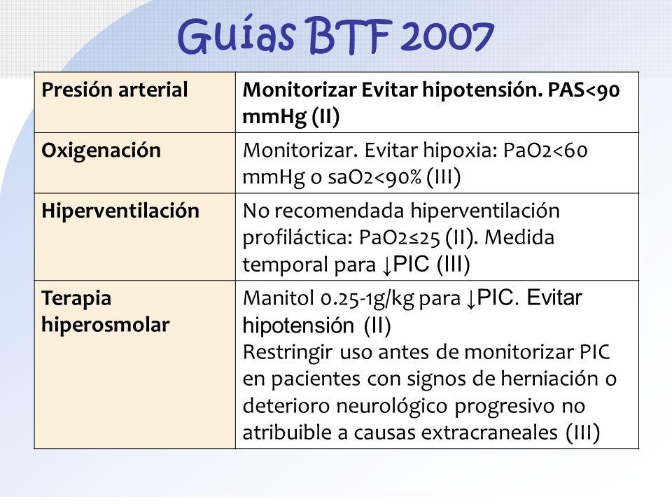 Guías BTF 2007 Presión arterial