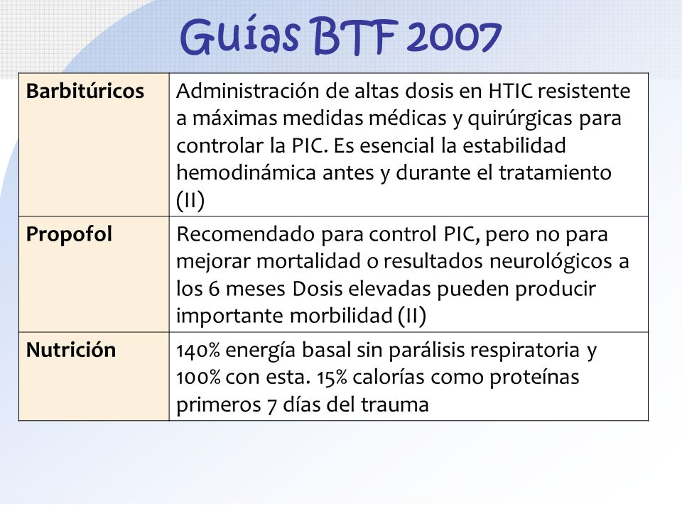 Guías BTF 2007 Barbitúricos