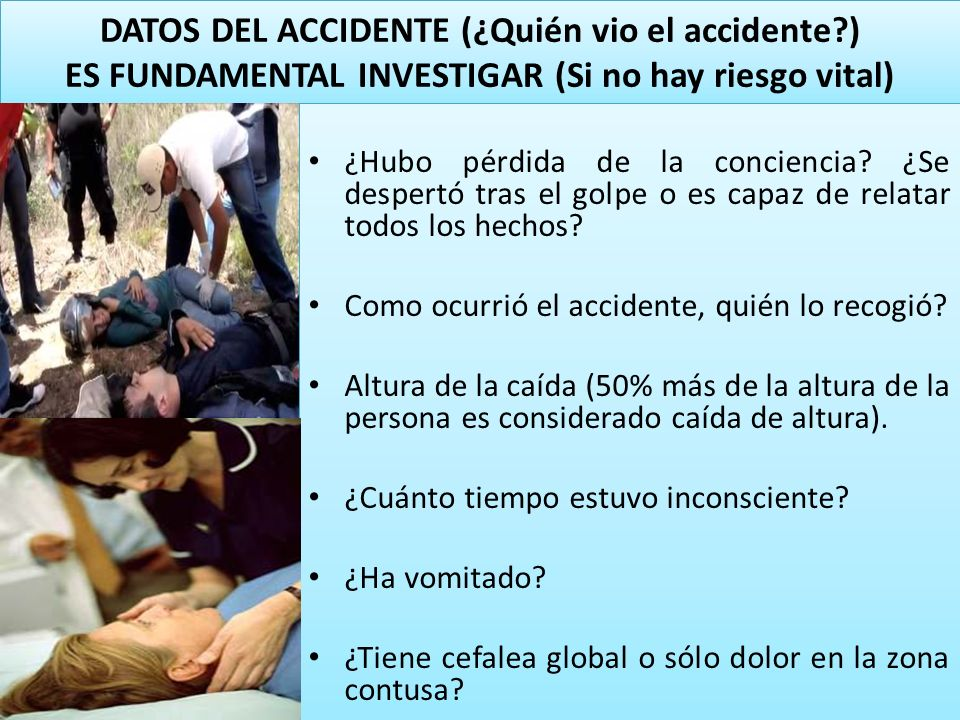 DATOS DEL ACCIDENTE (¿Quién vio el accidente
