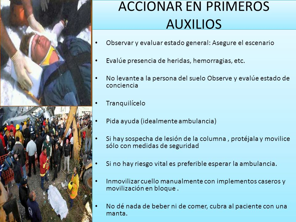 ACCIONAR EN PRIMEROS AUXILIOS