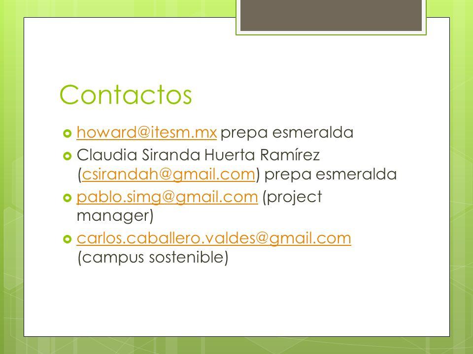 Contactos howard@itesm.mx prepa esmeralda
