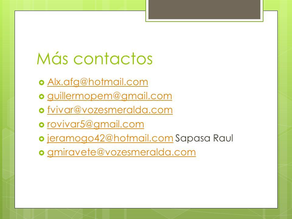 Más contactos Alx.afg@hotmail.com guillermopem@gmail.com