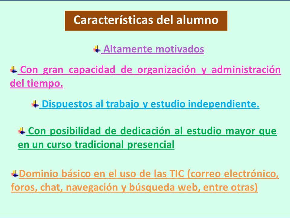 Características del alumno