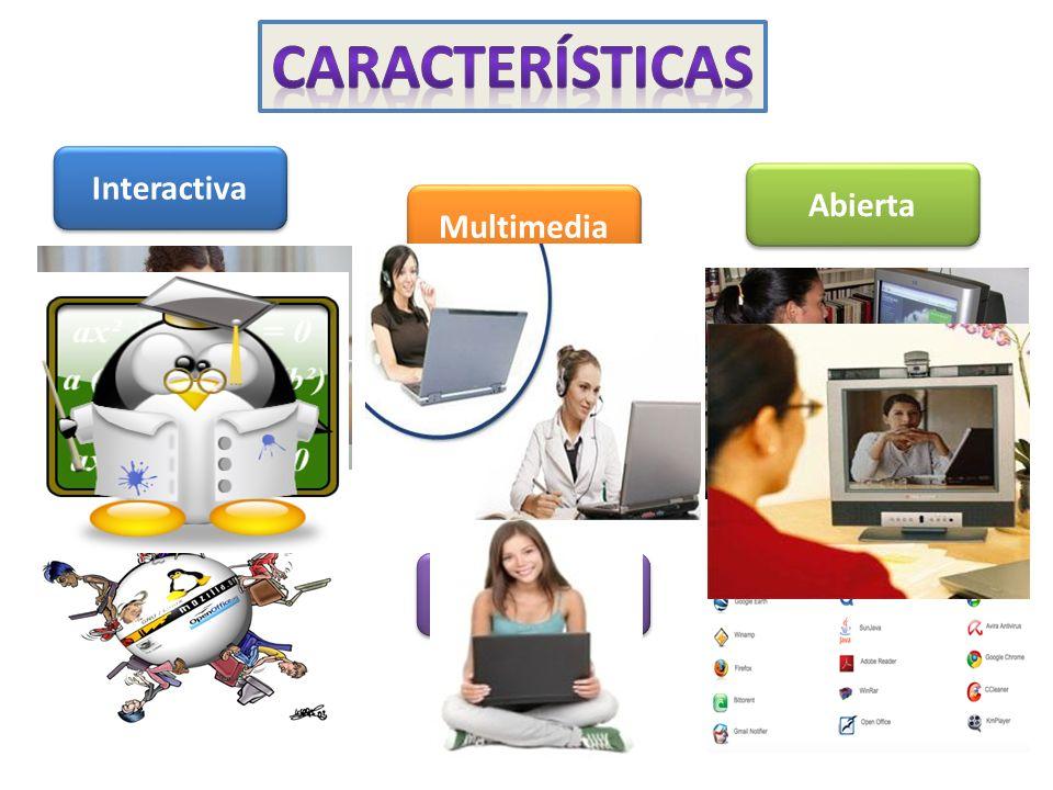 características Interactiva Abierta Multimedia Síncrona y asíncrona