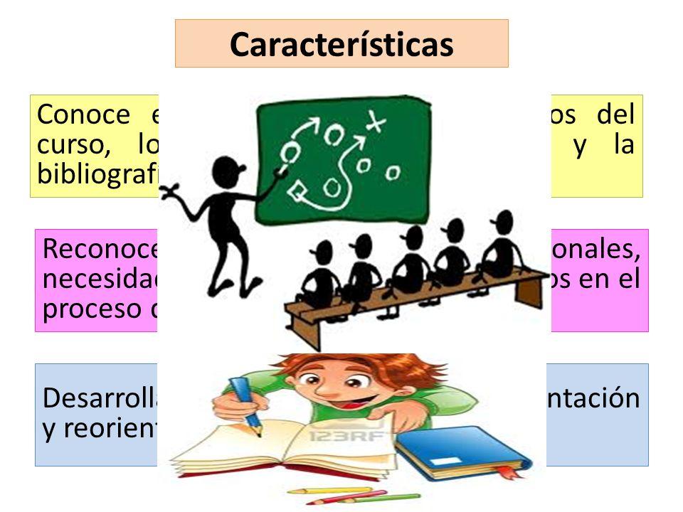 Características Conoce en profundidad los contenidos del curso, los materiales del programa y la bibliografía propuesta.