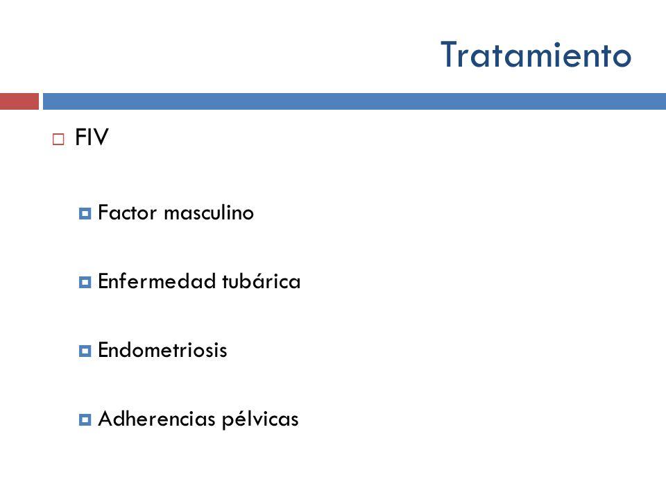Tratamiento FIV Factor masculino Enfermedad tubárica Endometriosis