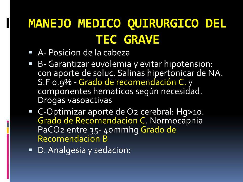 MANEJO MEDICO QUIRURGICO DEL TEC GRAVE