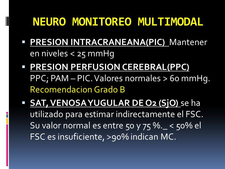 NEURO MONITOREO MULTIMODAL