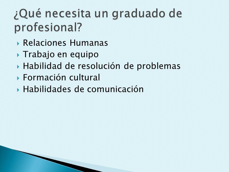 ¿Qué necesita un graduado de profesional