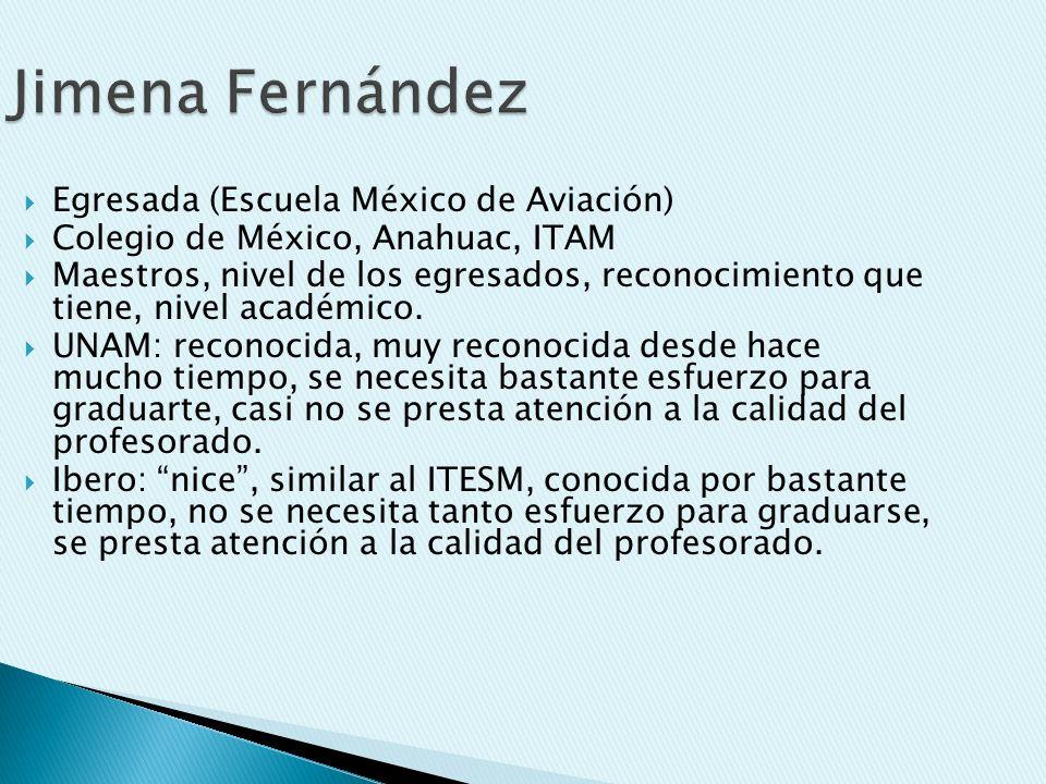 Jimena Fernández Egresada (Escuela México de Aviación)