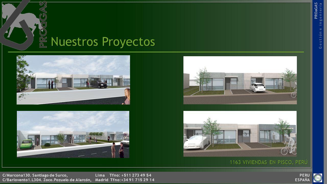 Nuestros Proyectos 1163 VIVIENDAS EN PISCO, PERÚ