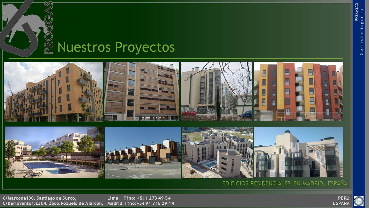 Nuestros Proyectos EDIFICIOS RESIDENCIALES EN MADRID, ESPAÑA